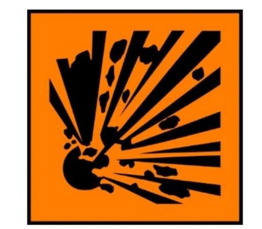 Explosion hazard symbol