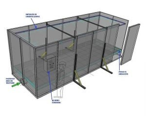 Layout of modular biofilter system