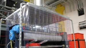 Suction hoods with PVC strips