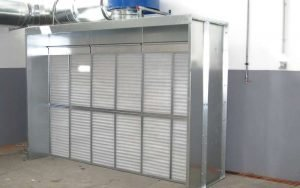 Metal grinding and sanding booth
