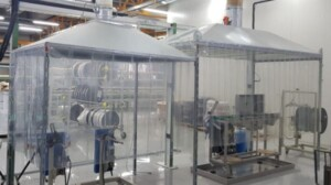 Suction hoods for extrusion fumes