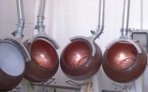 Extraction hoods for candy mixers