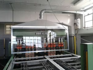 Extraction hood machining application