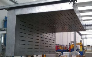 Bespoke designed hood metal grinding application