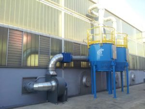 ATEX activated carbon filter for dry painting application