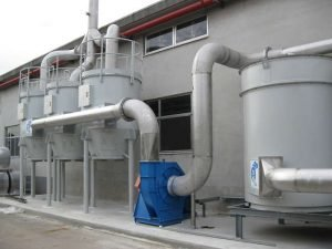 ATEX compliant activated carbon filter for styrene removal