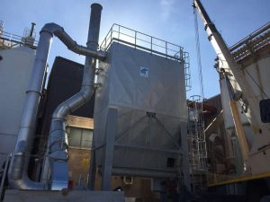 Insulated dedusting filter in perlite production plant