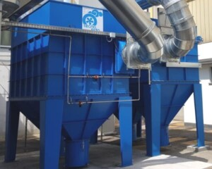 Cartridge filters for fumes and dust from welding machines