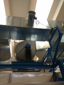 Francia: Dettaglio ventilatore centrifugo