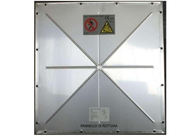 ATEX bag filter: vent panel (detail)