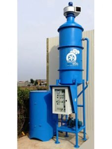 Wood combustion fumes purifier