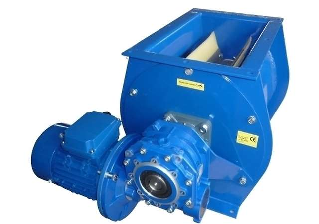 Rotary valve for collected dust unload