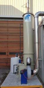 Application 3: polypropylene scrubber for soda vapors