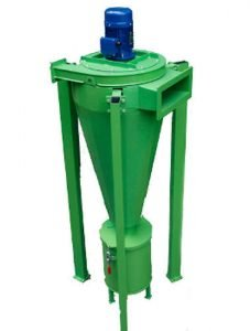 Dust tangential separator for wood chips boilers