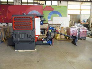 Turbovortex installed on small biomass boiler