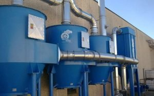 Application 2: Dust collector with three active carbon filters