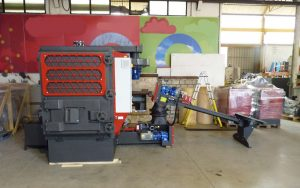 Biomass boiler and multicyclon
