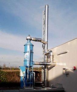 Biomass emissions wet filtration