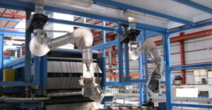 Application 1: Articulated arms for extraction from production lines