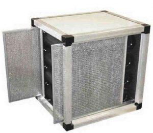 Active carbon filtering unit