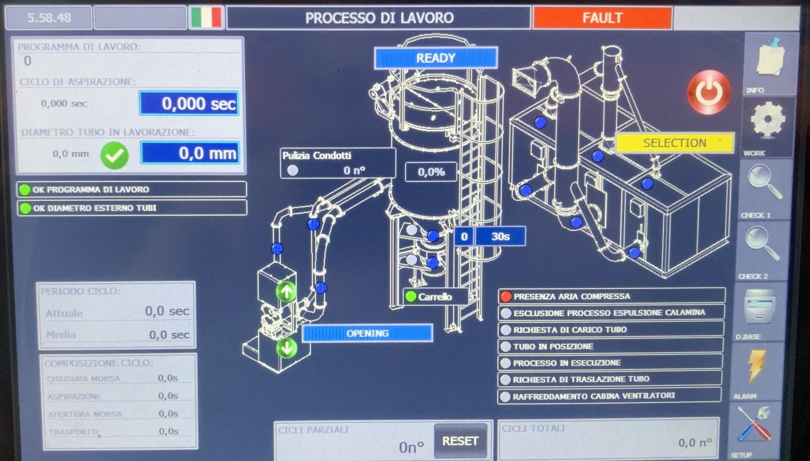 PLC screen